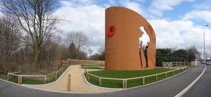 The South Ribble War Memorial forms part of the new park Pic: Tony Simpkins