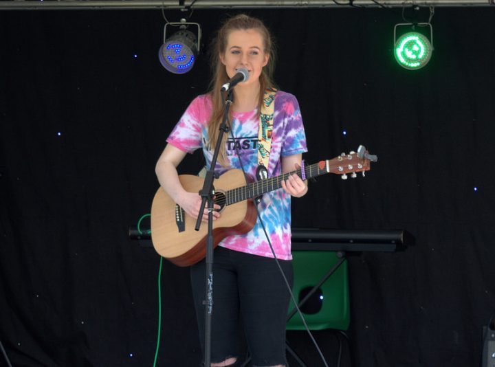 Charlotte Lily performs at The Big Lunch Pic: Tony Worrall