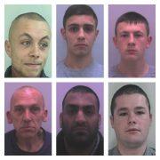 From top left, clockwise: James Wilkinson, Ryan Blakey, Josua Knowles, Wayne Small, Kasib Hussain and Mark Watkins