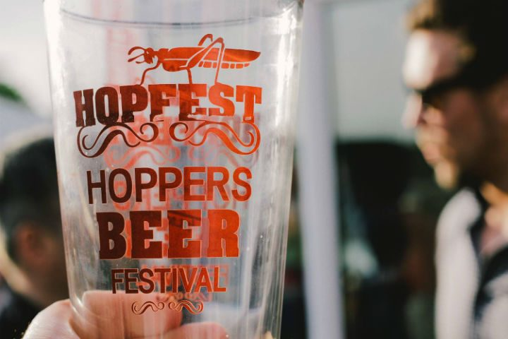 Beer glass at the Preston Grasshoppers beer festival 2015