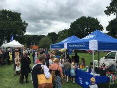 One of the many stalls attracting record numbers of visitors.