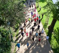 Looking down on Parkrun runners in Avenham Park Pic: Lynn Brown