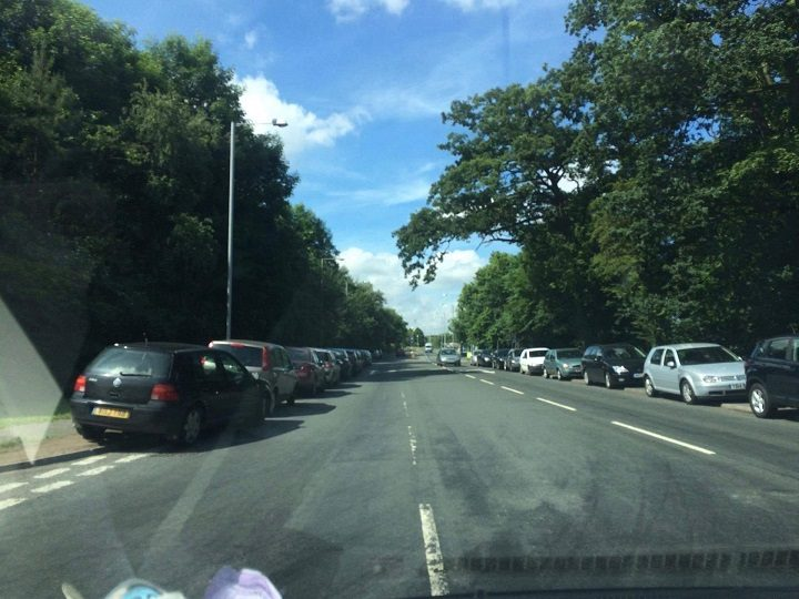 Julie Cooper can't work out why the cars are parking on Longridge Road