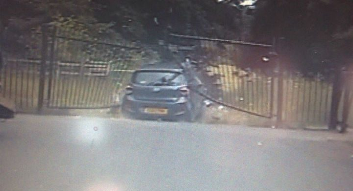 Police tweeted a picture of the stolen car after the chase ended