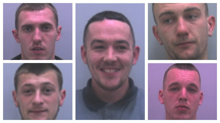 From top left, clockwise: Jason Jackson, Anthony Watson, Matthew Botham, Daniel McGuinness and Sam Knowles