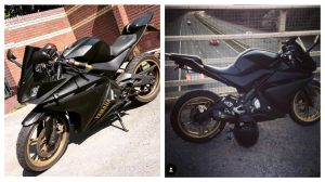 The carbon fibre bike was taken overnight from Tuesday into Wednesday