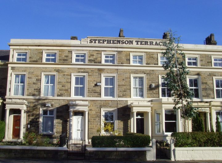 Stephenson Terrace will remain as a listed building but would lose its Conservation Area status Pic: Tony Worrall