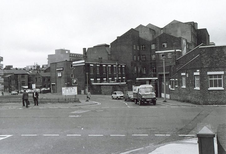 Avenham Lane and former Avenham Street Mill, Preston c.1985. Pic: Preston Digital Archive