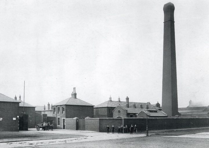 Preston Corporation Refuse Destructor, Argyll Road 1886. Pic: Preston Digital Archive