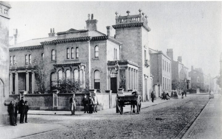 The former residence of William Ainsworth in Winckley Square & Cross St. 1862