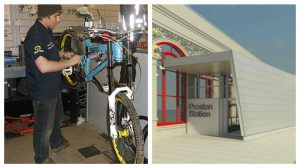 The bike shop is part of the revamp of the station
