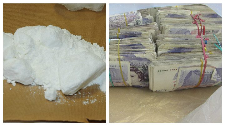 Half a kilo of cocaine seized, and £30,000 recovered by police