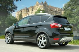 A black Ford Kuga is the type of vehicle wanted