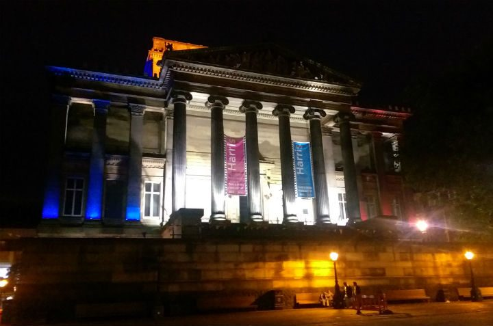 The council is lighting the Harris in the French colours until Monday