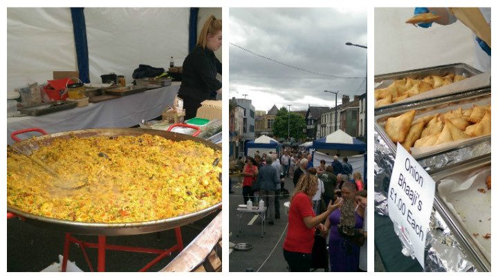 Some of the stalls and food at the Lancashire Market in Friargate