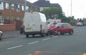 The scene in Tag Lane on Saturday morning Pic: Lee Sutton