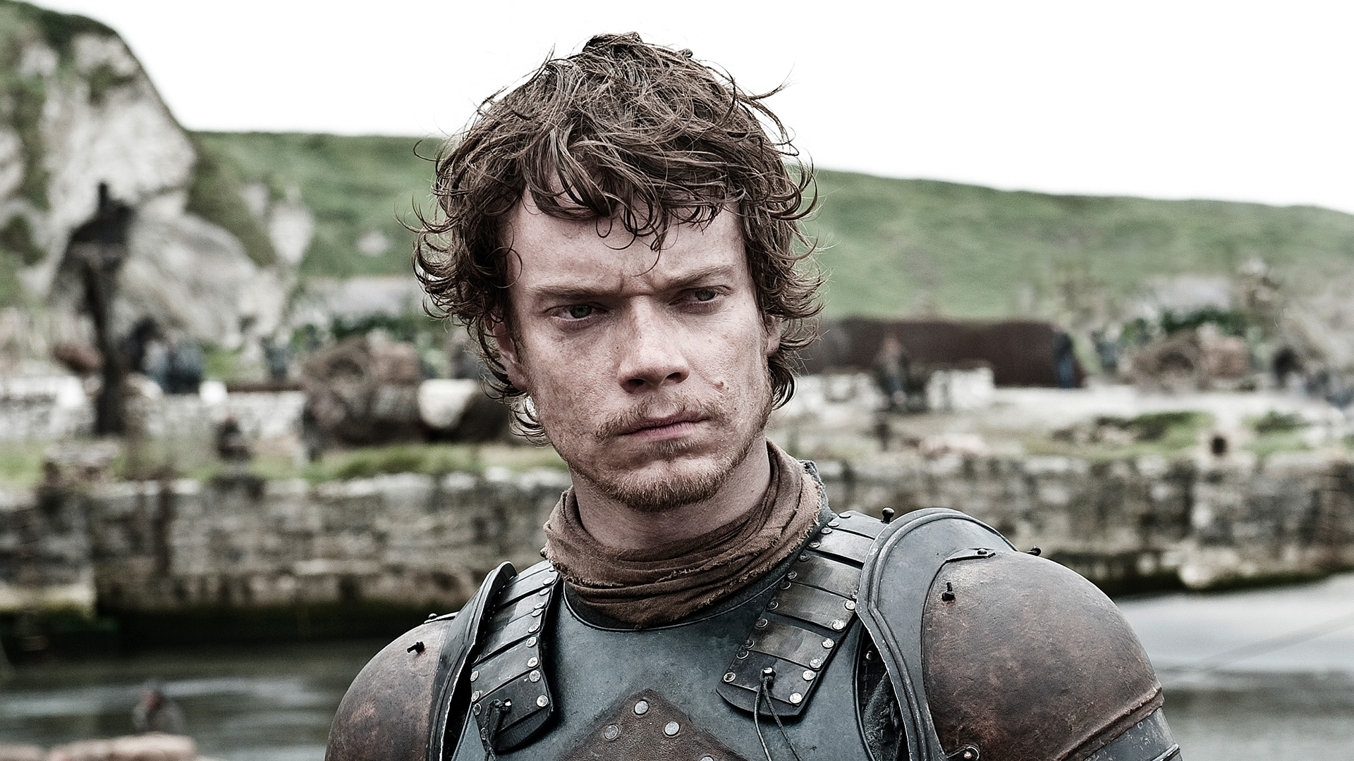 Theon Greyjoy, who loses his manhood in the program Game of Thrones
