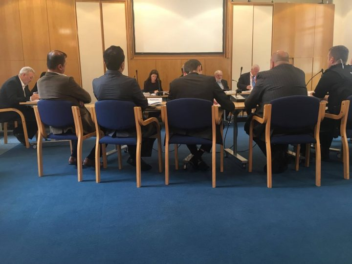 A view of the licensing hearing