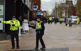 Police would use the notices in the centre of Preston Pic Tony Worrall