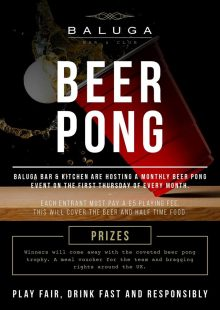 Baluga Beer Pong Is Back In Preston
