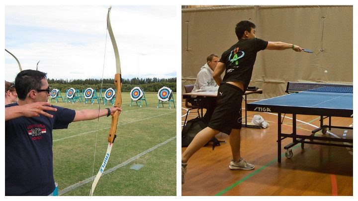 Archery and table tennis are two of the sports clubs opening their doors