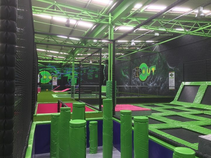 Inside the trampoline park in Fishwick