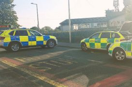 Emergency services near Lea Primary School on Wednesday