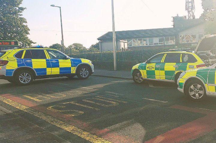 Emergency services near Lea Primary School on Wednesday