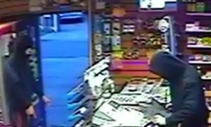 CCTV from inside the shop during the robbery