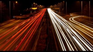Light trails on the M6 near Preston Pic: Shane King