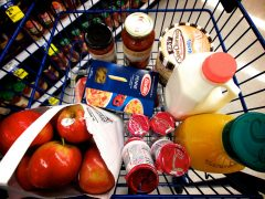 There will be groceries to get the family started in the UK Pic: Jack Amick