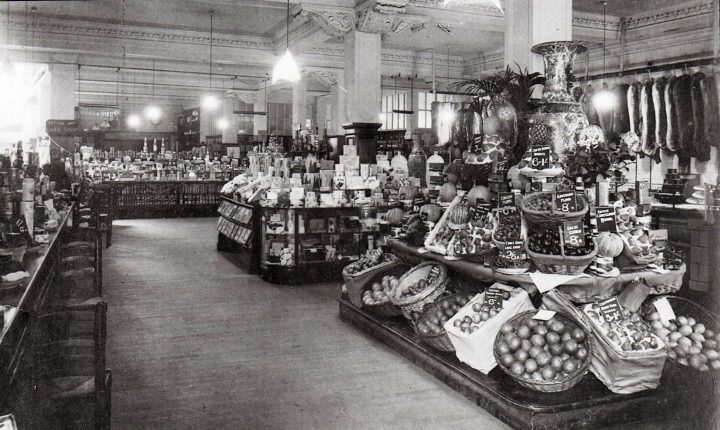 The very ornate and well stocked interior of the Booths store c.1933