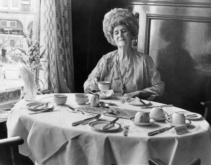 Mrs. Alice Haydock visits the Booths Café for the final time before its closure. Pic: Preston Digital Archive
