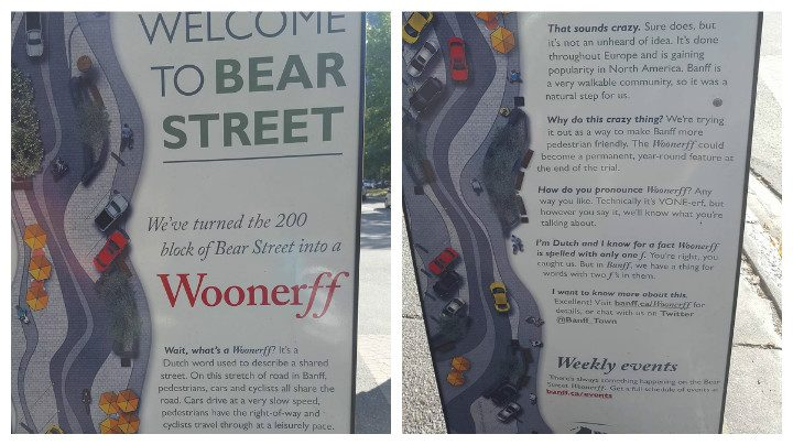 The signs in Bear Street, Banff