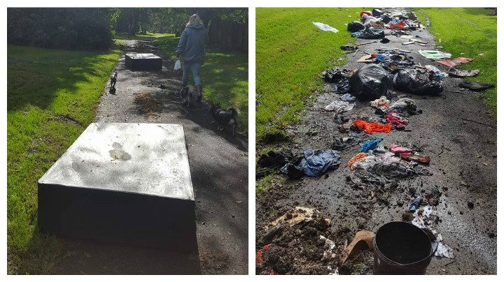 Fly tipping in Preston Cemetery Pic: Jack Varey