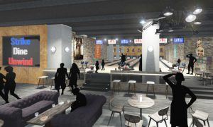 Inside the proposed bowling alley at LeVel