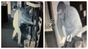 CCTV pictures show a man police would like to speak to in connection with the incident