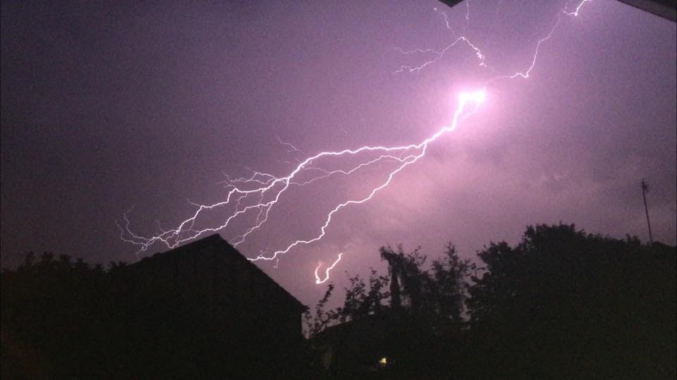 Lightning over Preston. Credit: Helen Tattler