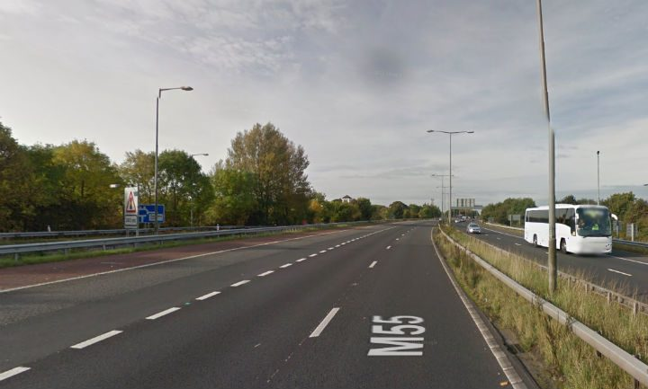 M55 junction 1 where the crash happened Pic: Google