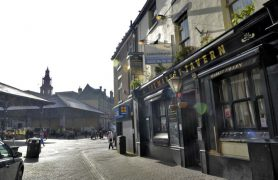 The Market Tavern is opposite to Covered Market which is having extensive restoration work