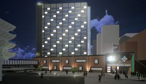 The Villa Urban would be the name of the new hotel, in what is now the Guild Tower
