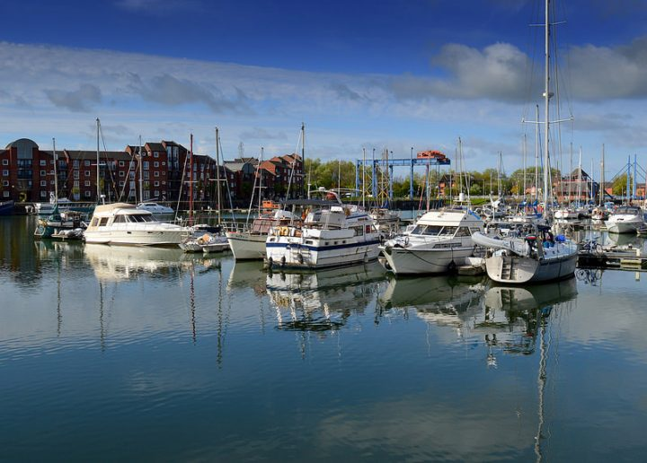 Calm at Preston Marina which Chris ran for 26 years Pic: Tony Worrall