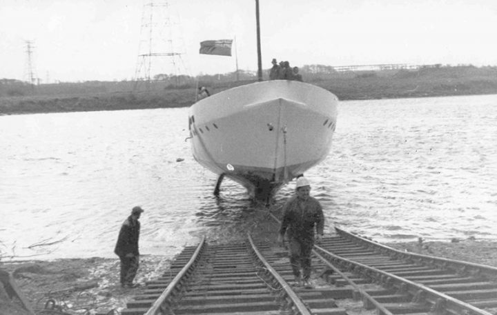 Even whilst the Port of Preston was still operational some leisure boats were making use of the River Ribble. Athene Nikki was a ferro-cement yacht built on the river bank and lauched using the specialist skills of Chris MIller Ltd. and particularly the firm's Managing DIrector Chris MIller. A keen yachtsman, Chris Miller devised and constructed an ingenious temprary slipway made from railway track which was used to launch the vessel on completion.