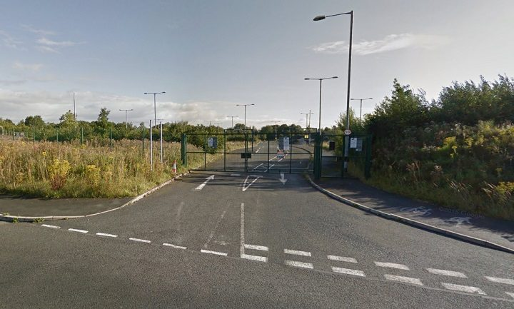 Entrance to the former park and ride site Pic: Google