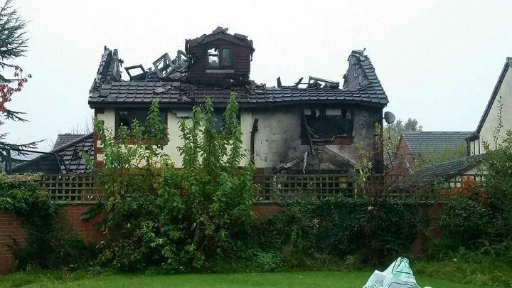 The family home in Bramble Court may need to be demolished Pic: Amanda Leadley