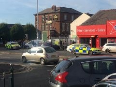 Brook Street was closed off during the incident Pic: Connor Reece Turner