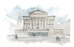 How the Harris Museum may look in future with an entrance direct from the Flag Market