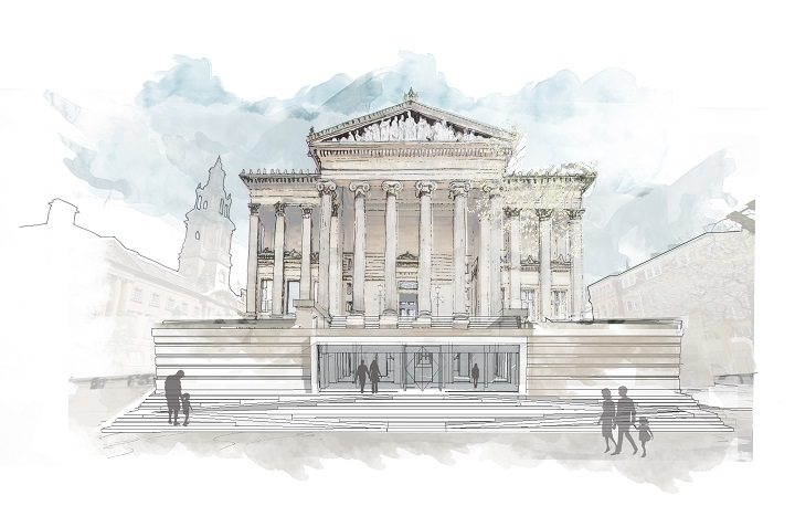 How the Harris Museum may look in future with an entrance direct from the Flag Market Pic: Purcell Architects