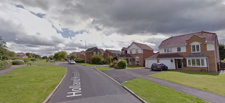 Cars were tried in the Holland House estate in Bamber Bridge Pic: Google