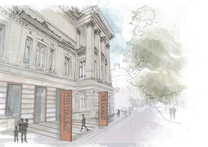You will be able to access the Harris from Lancaster Road in the future, if the funding bid if successful Pic: Purcell Architects